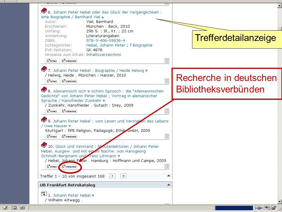 Germanistik im Netz 201027 Recherche in deutschen Bibliotheksverbünden Trefferdetailanzeige