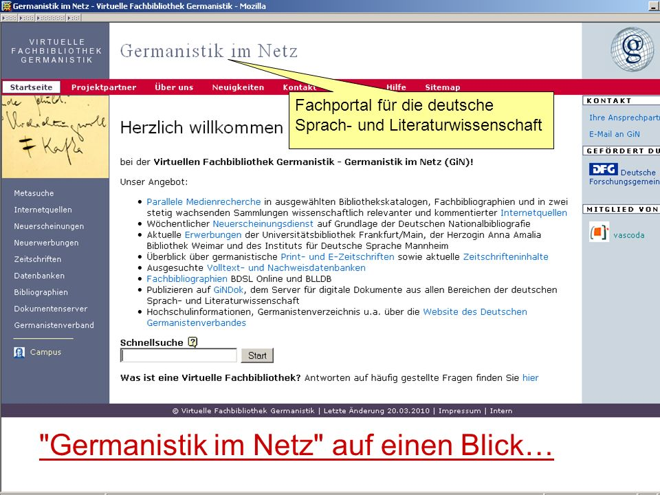 Germanistik im Netz 201047 …Wie können Sie uns helfen?...