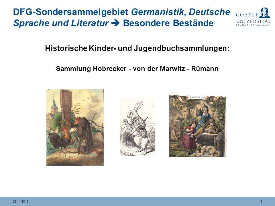 DFG-Sondersammelgebiet Germanistik, Deutsche Sprache und Literatur Besondere Bestände Sammlung WielandBibliothek Hirzel