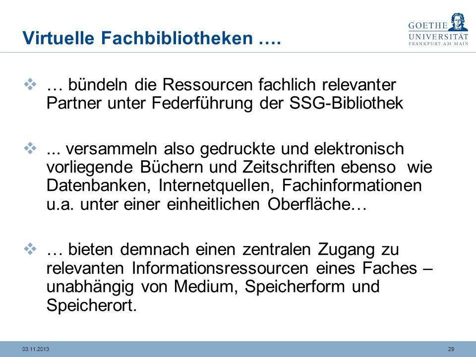 2903.11.2013 Virtuelle Fachbibliotheken ….