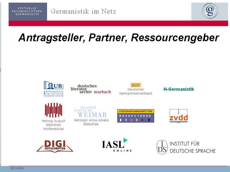 2903.11.2013 Virtuelle Fachbibliotheken …. … bündeln die Ressourcen fachlich relevanter Partner unter Federführung der SSG-Bibliothek... versammeln al