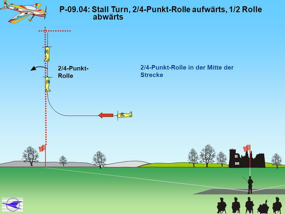 P-09.13: Zwei Außenloopings von oben mit integrierter Ganzer Rolle oben Die Loopings müssen rund und deckungs- gleich sein.