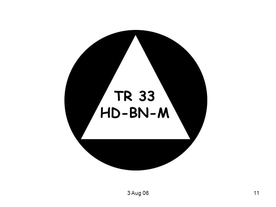3 Aug 0611 TR 33 HD-BN-M