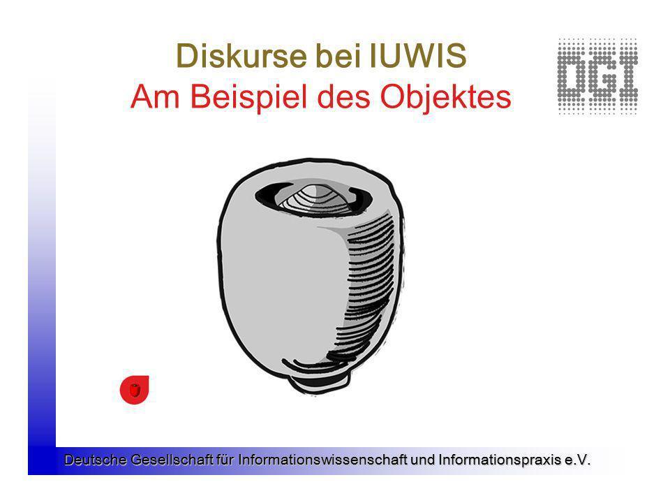 Deutsche Gesellschaft für Informationswissenschaft und Informationspraxis e.V. Diskurse bei IUWIS Am Beispiel des Objektes