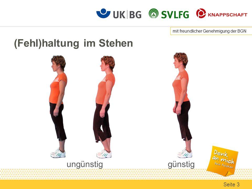 Folge einer schlechten Haltung beim Ziehen/Schieben schlechte Haltung mit rundem Rücken u./o.