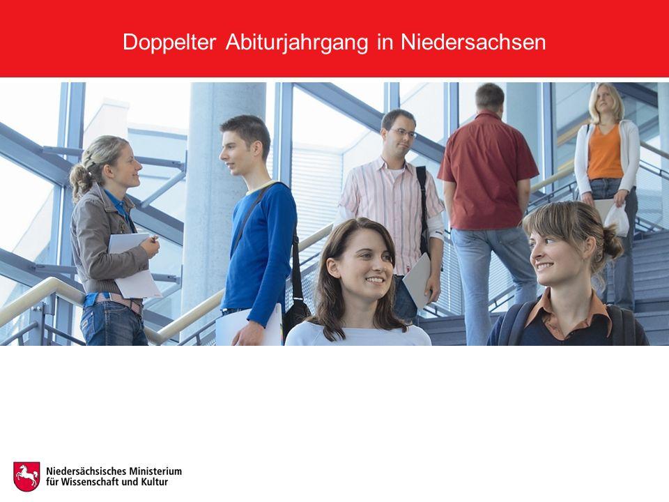 Doppelter Abiturjahrgang in Niedersachsen