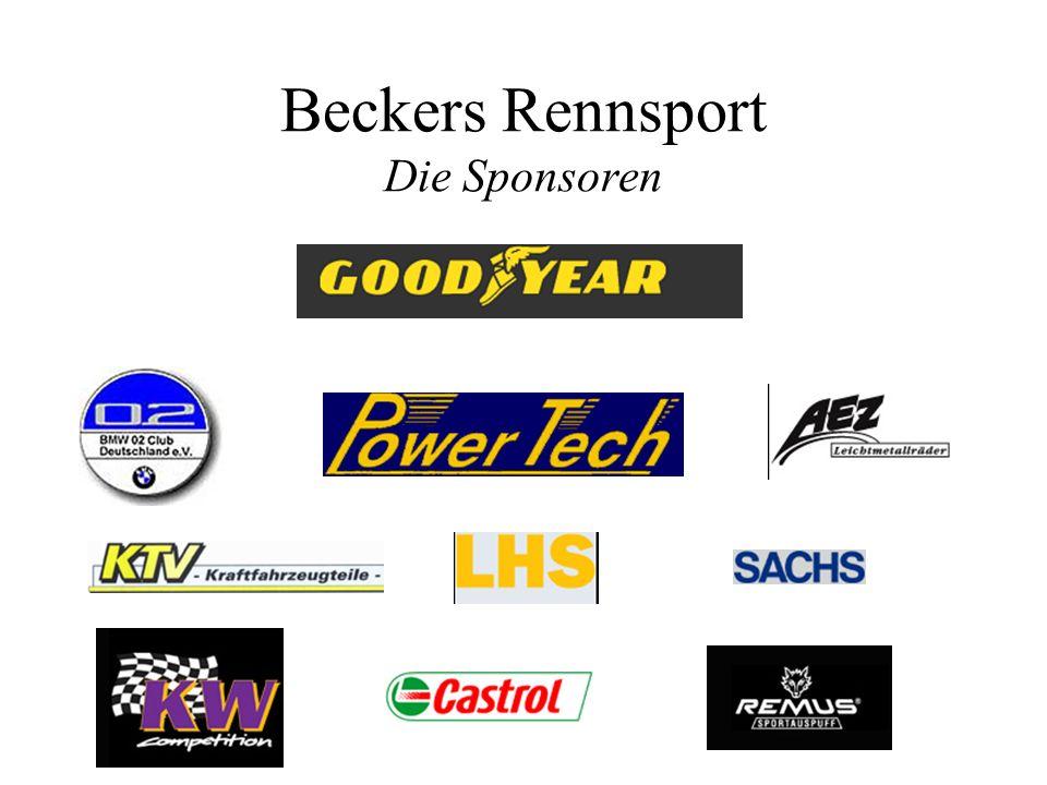 Beckers Rennsport Die Sponsoren