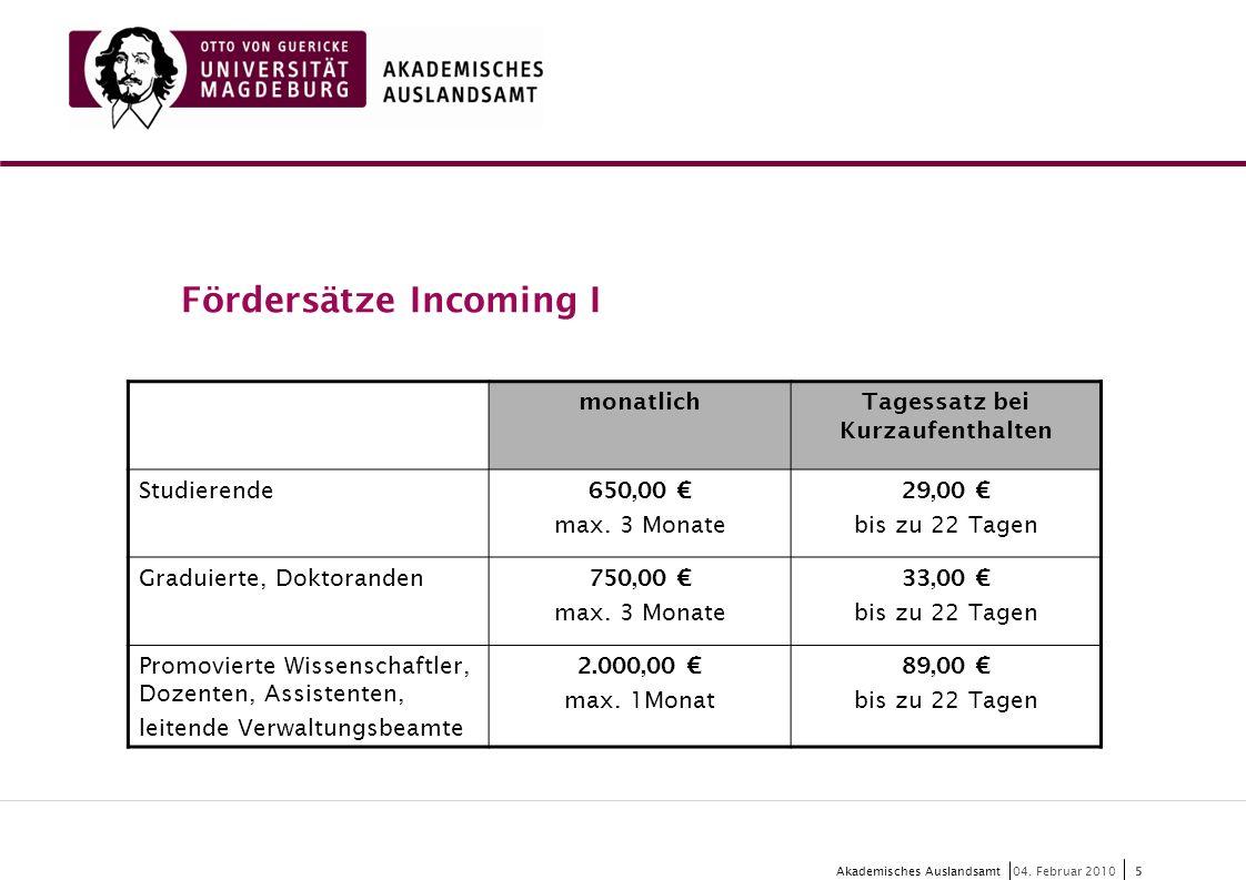 6 Akademisches Auslandsamt6 04.