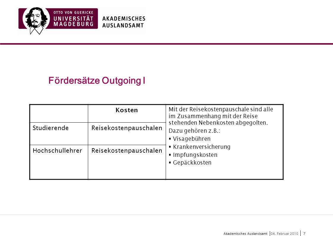 8 Akademisches Auslandsamt8 04.