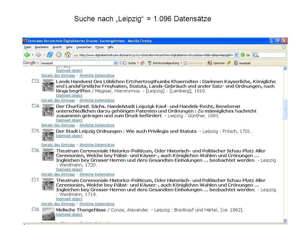 Suche nach Leipzig = 1.096 Datensätze