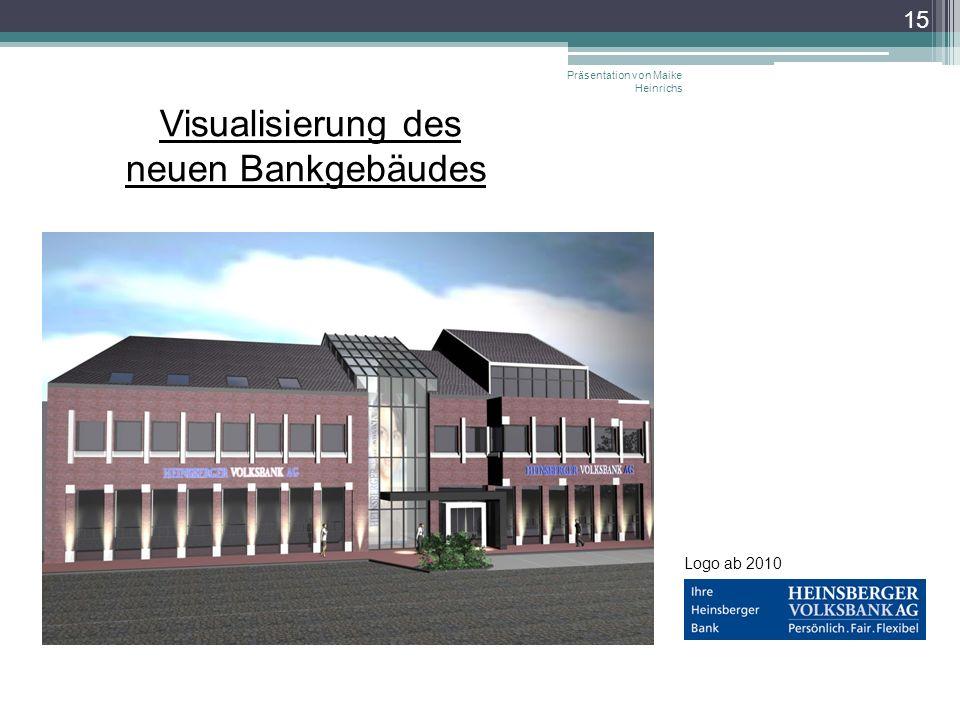 Visualisierung des neuen Bankgebäudes Präsentation von Maike Heinrichs 15 Logo ab 2010