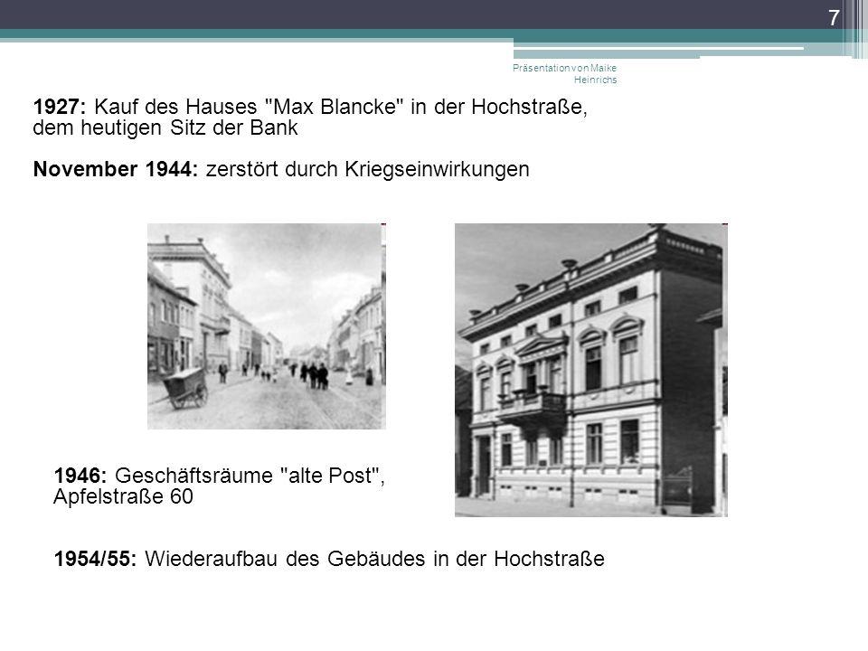 7 1927: Kauf des Hauses