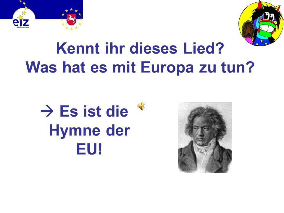 Wie sieht die Flagge der EU aus?