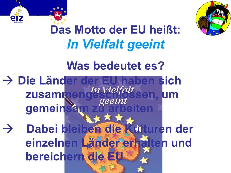 Hat die EU auch einen eigenen Feiertag? Ja! am 9. Mai ist Europatag