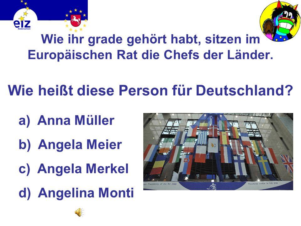Was glaubt ihr: Wie viele Abgeordnete sitzen im Europäischen Parlament? a)50 b)212 c)560 d)754