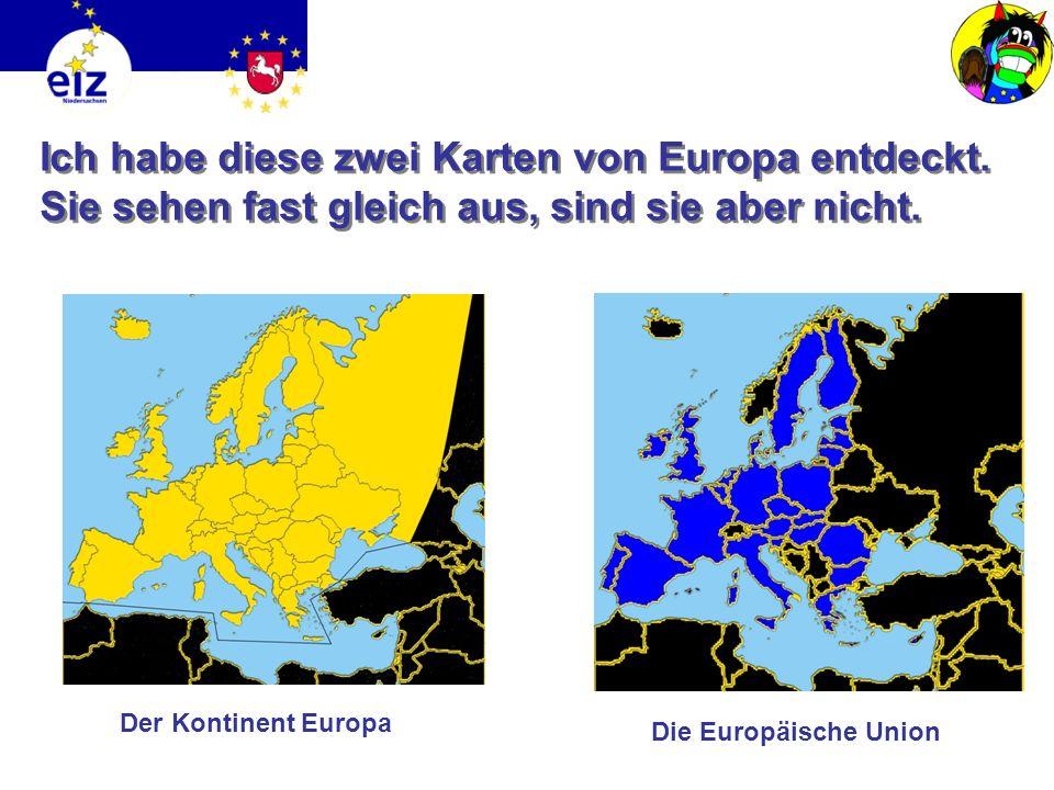 Ich habe diese zwei Karten von Europa entdeckt.Sie sehen fast gleich aus, sind sie aber nicht.