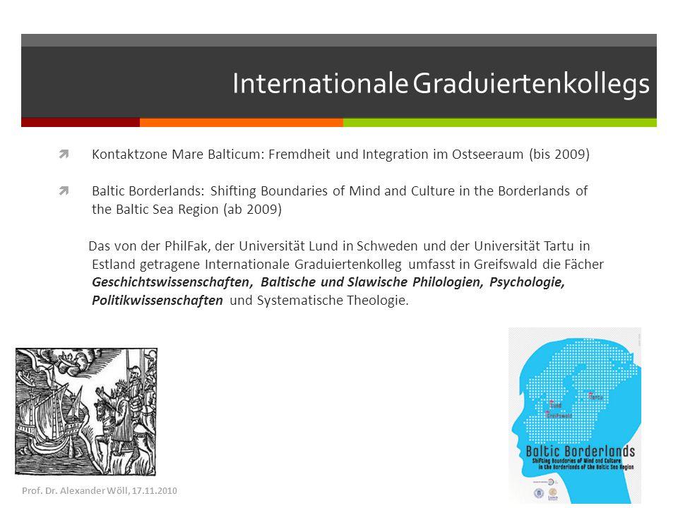 Internationale Graduiertenkollegs Kontaktzone Mare Balticum: Fremdheit und Integration im Ostseeraum (bis 2009) Baltic Borderlands: Shifting Boundarie