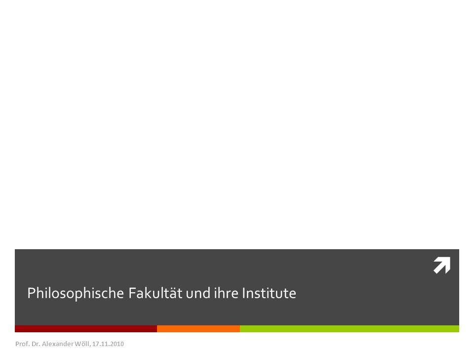 Philosophische Fakultät und ihre Institute Prof. Dr. Alexander Wöll, 17.11.2010