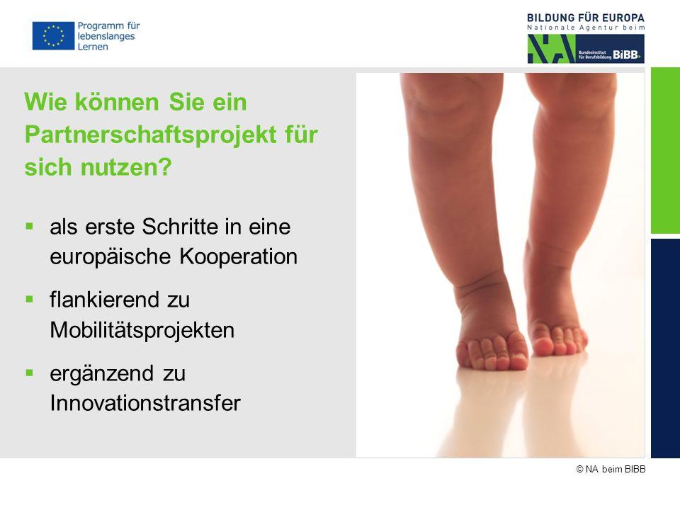 © NA beim BIBB Wie können Sie ein Partnerschaftsprojekt für sich nutzen? als erste Schritte in eine europäische Kooperation flankierend zu Mobilitätsp