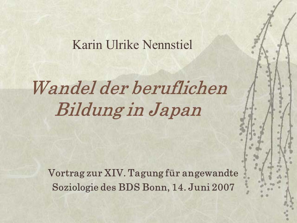 II Japanisches Management und berufliche Bildung A Charakteristika 1.