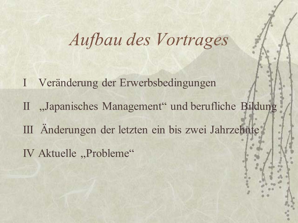 II Japanisches Management und berufliche Bildung B Berufliche Bildung 1.