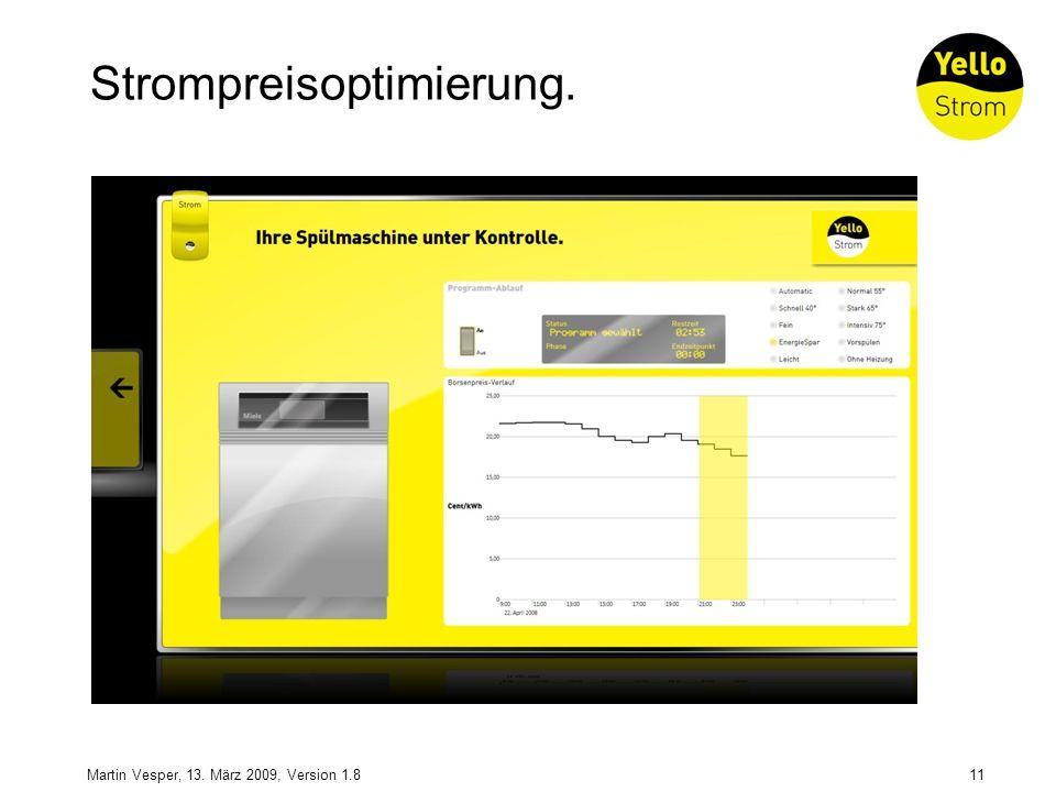 11Martin Vesper, 13. März 2009, Version 1.8 Strompreisoptimierung.