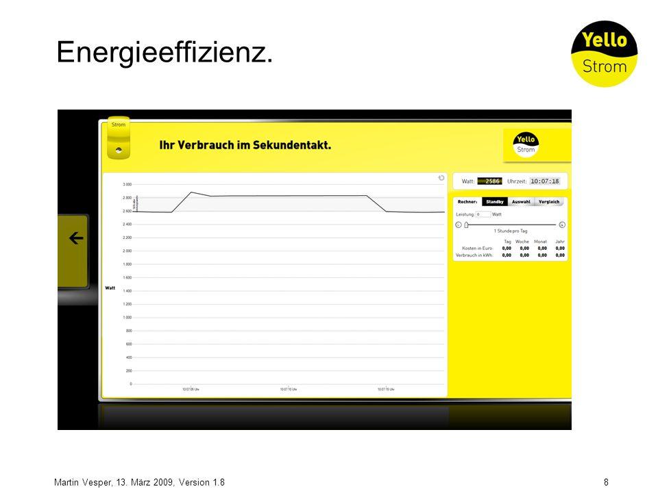 8Martin Vesper, 13. März 2009, Version 1.8 Energieeffizienz.