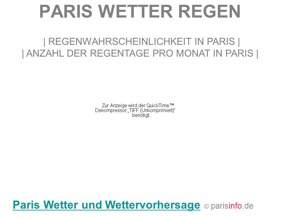PARIS WETTER REGEN   REGENWAHRSCHEINLICHKEIT IN PARIS     ANZAHL DER REGENTAGE PRO MONAT IN PARIS   Paris Wetter und WettervorhersageParis Wetter und