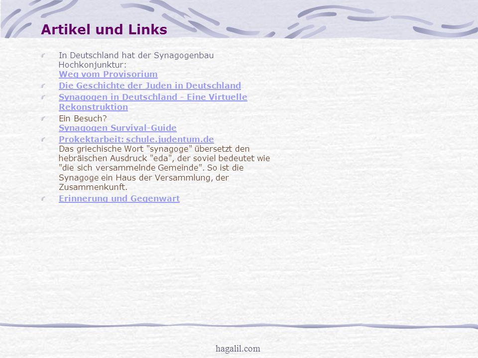 hagalil.com Synagogen in Deutschland Synagoge = Griechische Bezeichnung für
