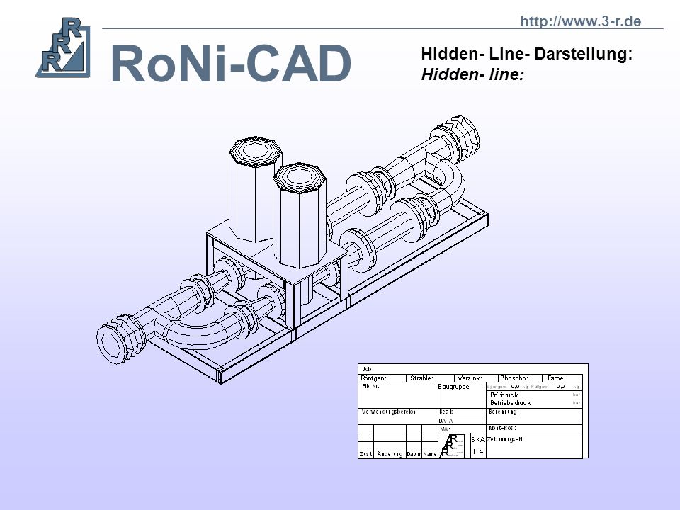 RoNi-CAD RoNi erkennt automatisch alle Schweißpunkte einer Isometrie, visualisiert diese und erstellt eine Schweißdokumentation. RoNi detects automati
