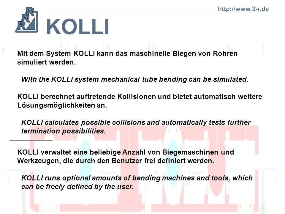 Wärmerohre Kolli teilt automatisch ein Rohrregister in die maximalen Sägelängen auf, die auf der Biegemaschine noch herstellbar sind. Kolli divides a