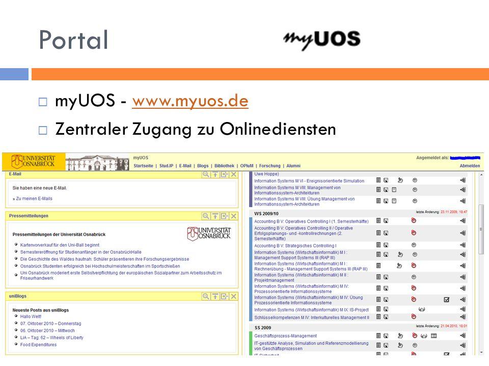 Portal myUOS - www.myuos.dewww.myuos.de Zentraler Zugang zu Onlinediensten