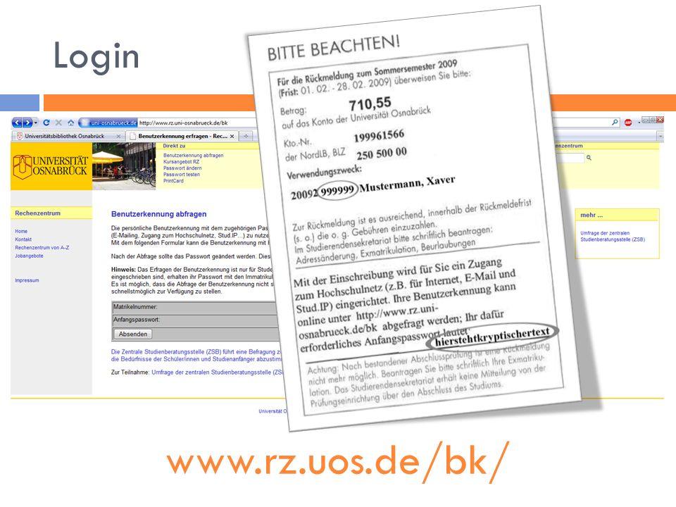 Login www.rz.uos.de/bk/