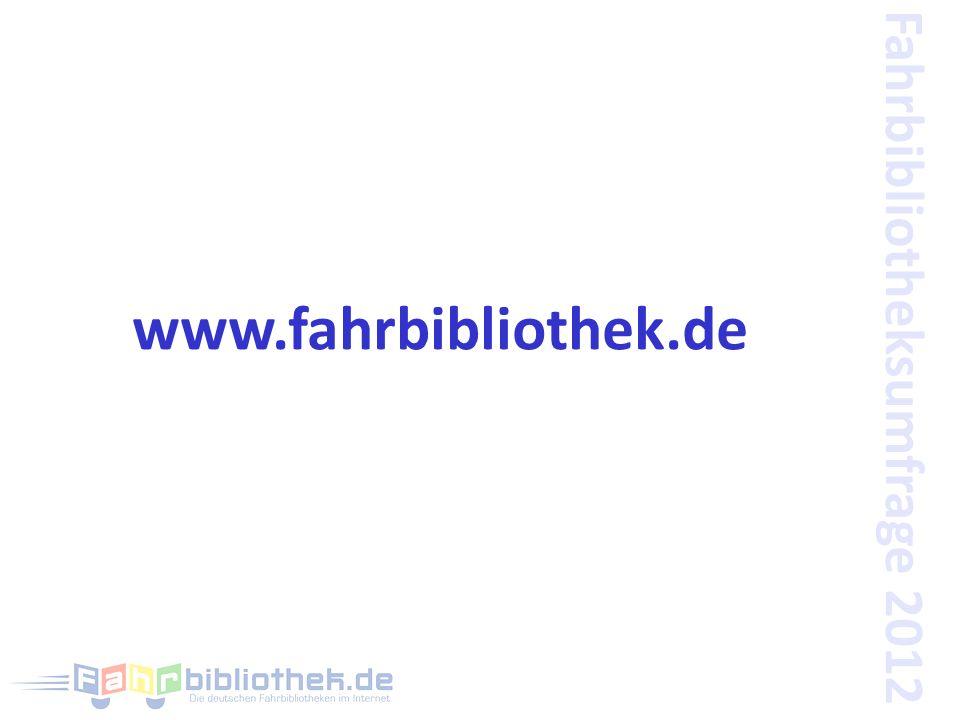 Fahrbibliotheksumfrage 2012 www.fahrbibliothek.de