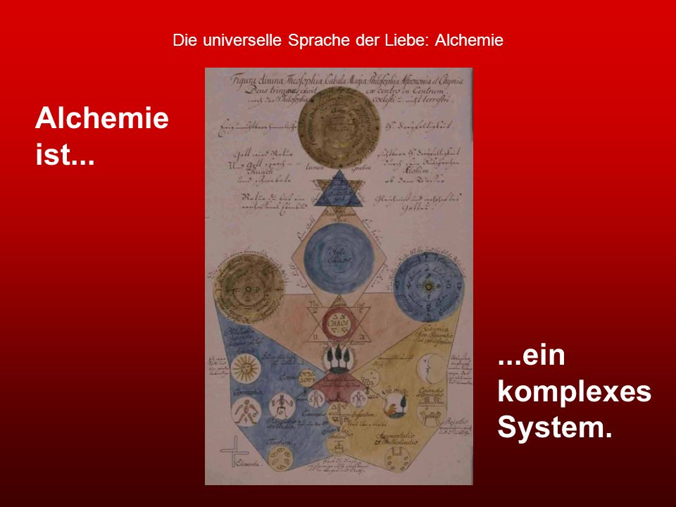 Die universelle Sprache der Liebe: Alchemie Alchemie ist......ein komplexes System.