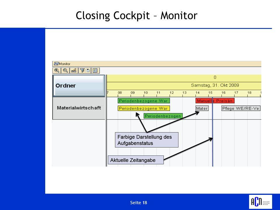 Seite 18 Closing Cockpit – Monitor