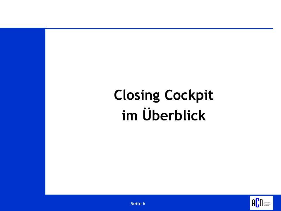 Seite 17 Closing Cockpit – Listanzeige