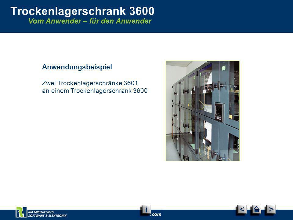 Vom Anwender – für den Anwender Trockenlagerschrank 3600 Anwendungsbeispiel Zwei Trockenlagerschränke 3601 an einem Trockenlagerschrank 3600