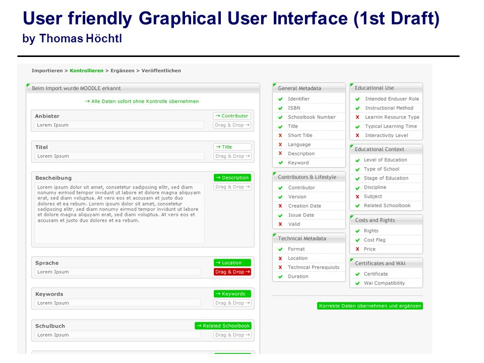 User friendly Graphical User Interface (1st Draft) by Thomas Höchtl
