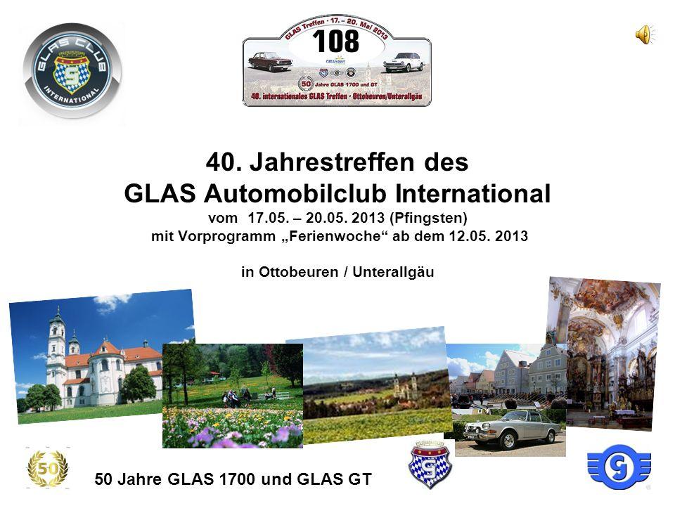 40.Jahrestreffen des GLAS Automobilclub International vom 17.05.
