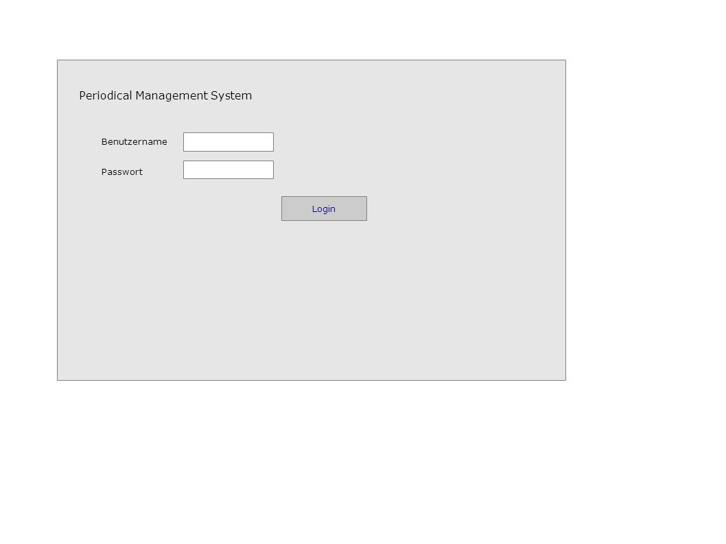 Periodical Management System Benutzername Passwort Login