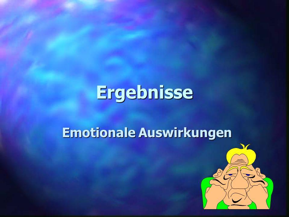 Ergebnisse Emotionale Auswirkungen