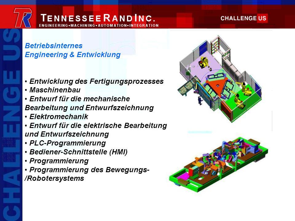 Betriebsinternes Engineering & Entwicklung Entwicklung des Fertigungsprozesses Maschinenbau Entwurf für die mechanische Bearbeitung und Entwurfszeichn