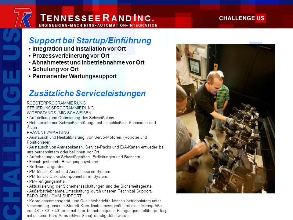 Support bei Startup/Einführung Integration und Installation vor Ort Prozessverfeinerung vor Ort Abnahmetest und Inbetriebnahme vor Ort Schulung vor Or