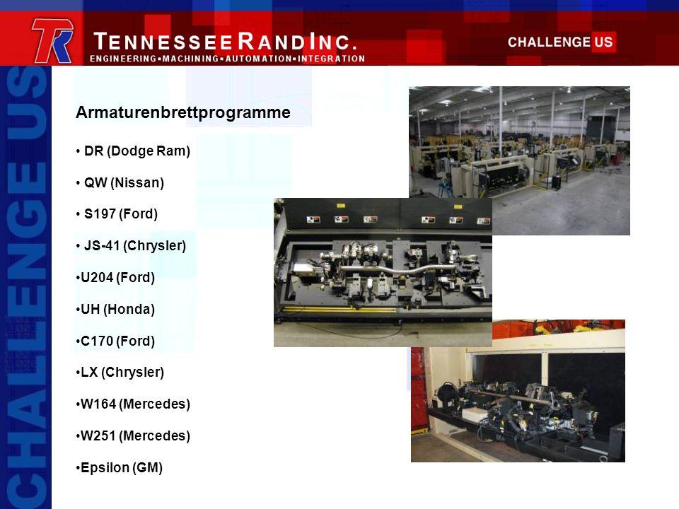 Armaturenbrettprogramme DR (Dodge Ram) QW (Nissan) S197 (Ford) JS-41 (Chrysler) U204 (Ford) UH (Honda) C170 (Ford) LX (Chrysler) W164 (Mercedes) W251