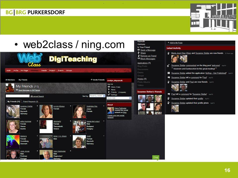 16 web2class / ning.com