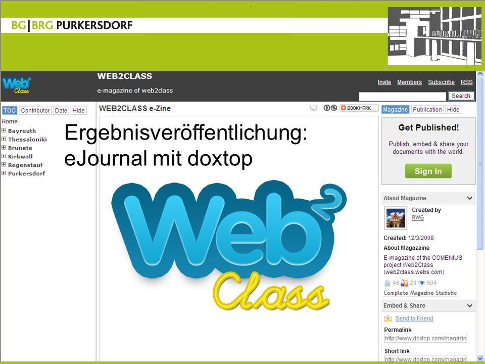 8 Ergebnisveröffentlichung: eJournal mit doxtop