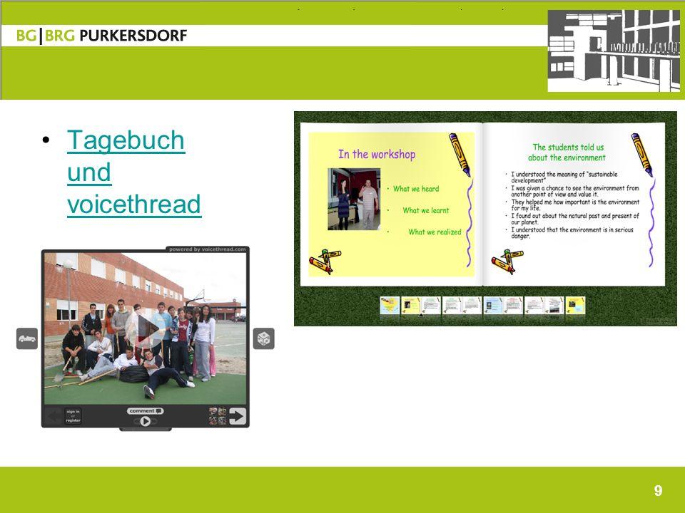 9 Tagebuch und voicethreadTagebuch und voicethread