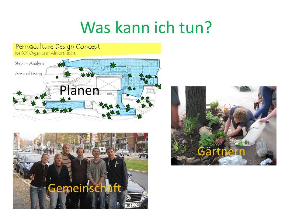 Was kann ich tun Planen Gärtnern Gemeinschaft
