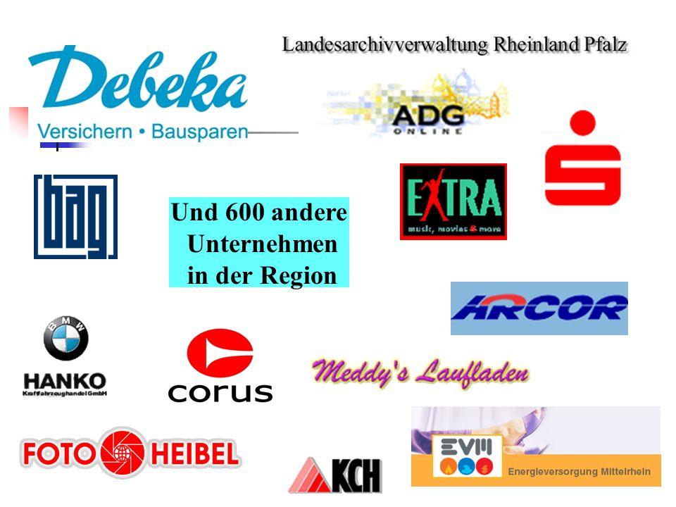 Und 600 andere Unternehmen in der Region